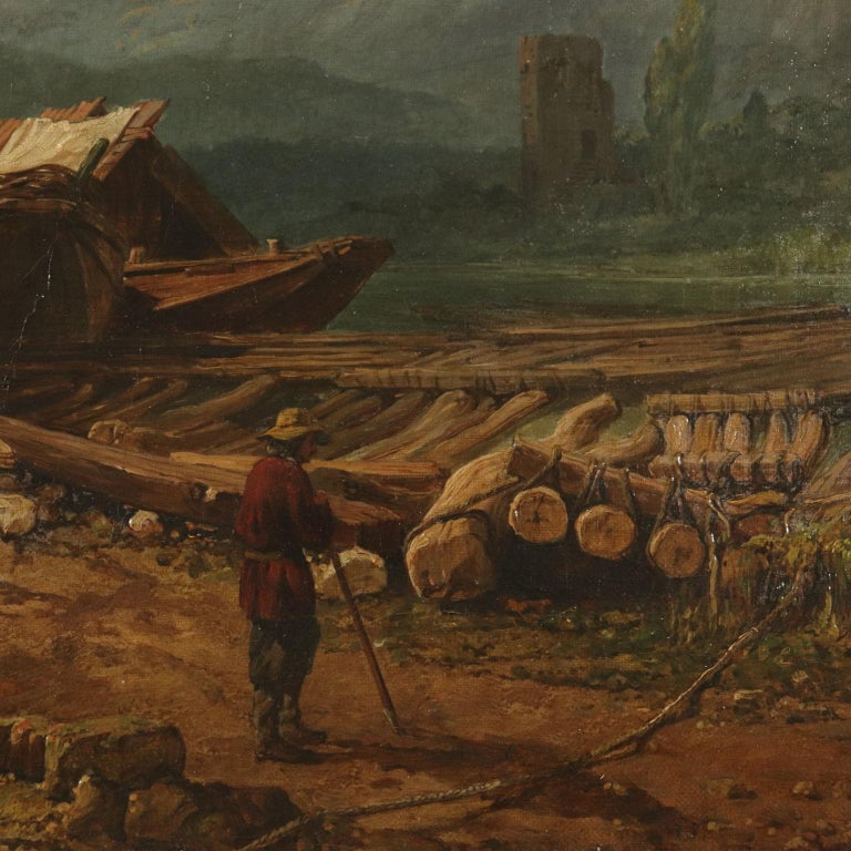 Landscape by George Clarkson Stanfield Fluvial Landscape 1869 2