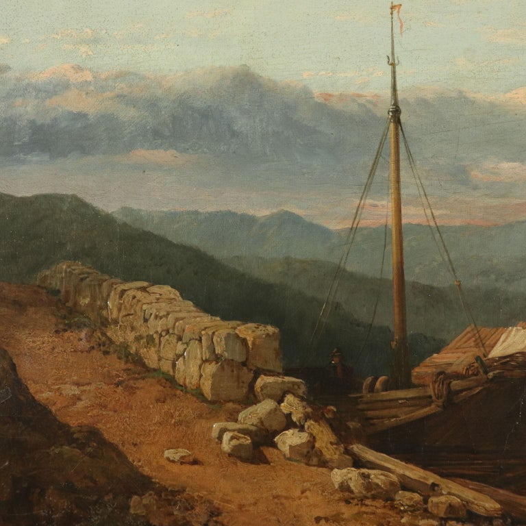 Landscape by George Clarkson Stanfield Fluvial Landscape 1869 4