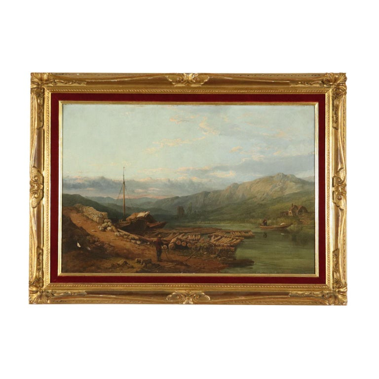 Oil painting on canvas. Signature and date in the lower left corner. The English painter George Clarkson Stanfied - specialized in landscapes and marine landscape like his father - stood up for the topographical glimpses of many places of Europe he