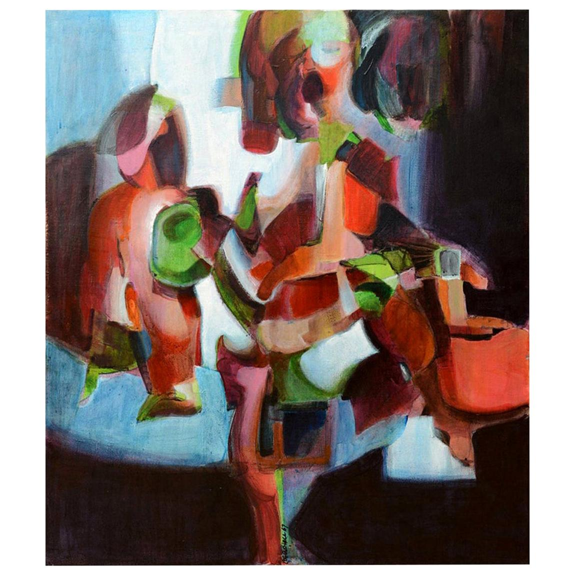 George Coggeshall Abstract Painting Mid-Century Modern