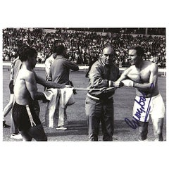 George Cohen Signed 1966 World Cup Photograph Black and White