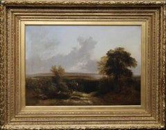 A Hampshire Moorland Landscape - British Victorian art oil painting