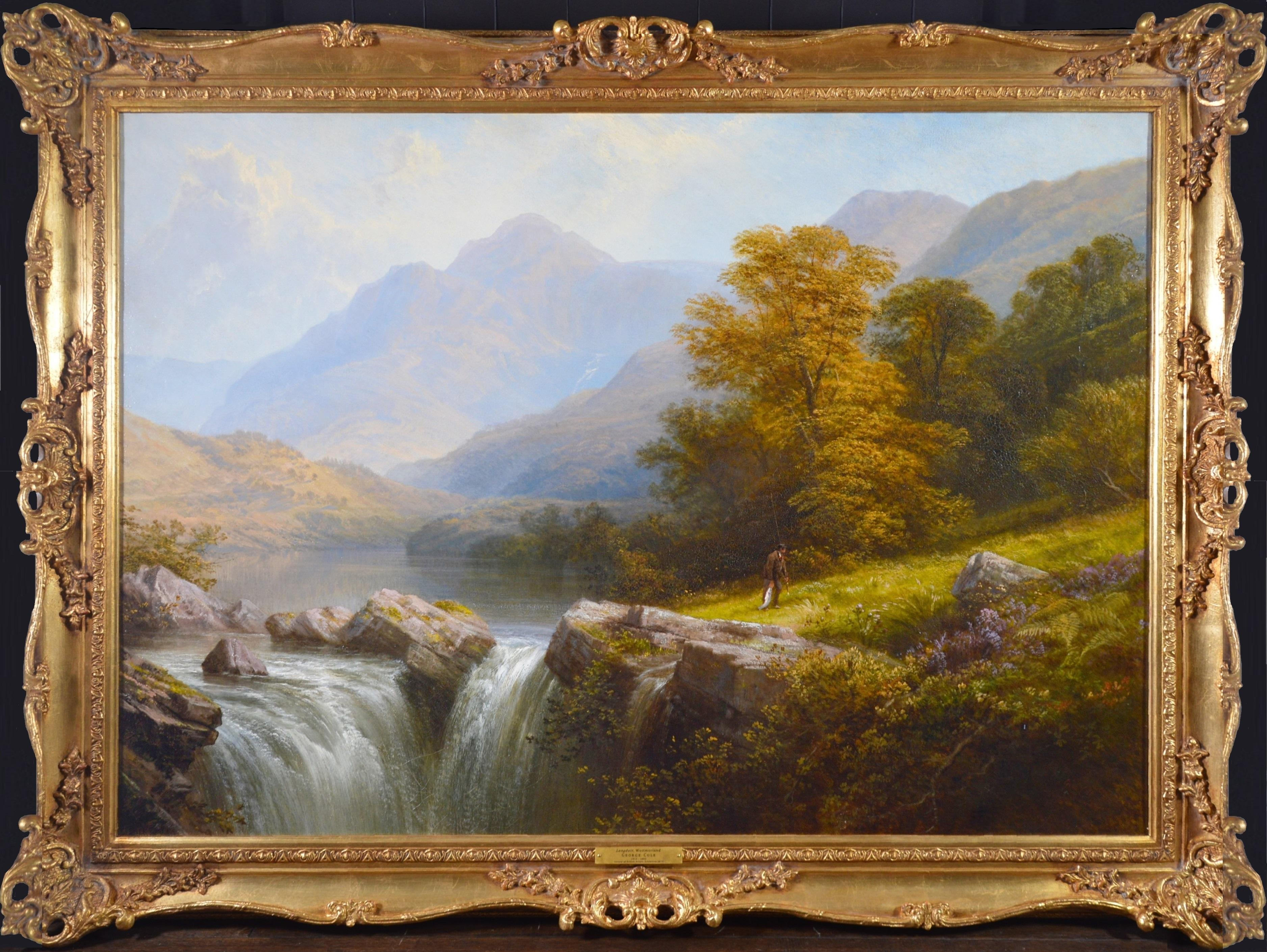 Langdale, Westmorland - Huge 19th Century Exhibition Landscape Oil Painting 1879