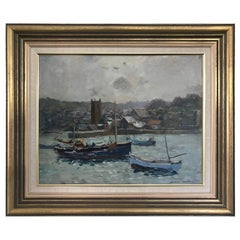 George Colville 'Scottish' St Ives Harbour Cornwall Oil Painting on Board