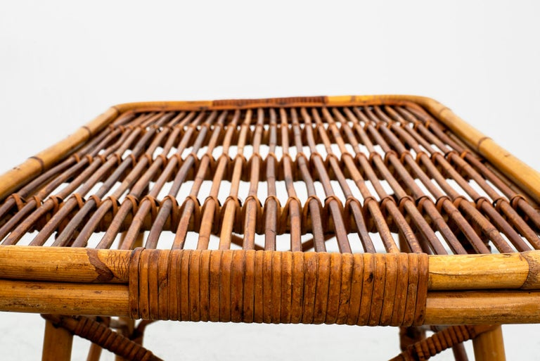 Rattan George Coslin Table For Sale