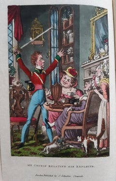 My Cousin in the Army - Rare Book Engraved by G. Cruikshank - 1822