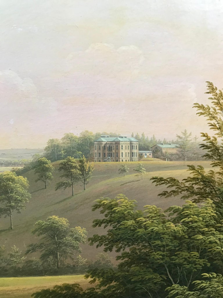 A distant landscape view of Langton Hall in Richmondshire, North Yorkshire For Sale 2