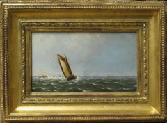 Marine Painting by George Curtis, A Gentle Breeze, c. 1877