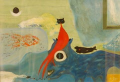 Abstract Animals - Mid 20th Century Oil on Board Abstract by George De Goya