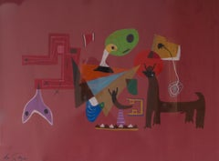 Abstract Piece - Mid 20th Century Animal Abstract Piece by George De Goya