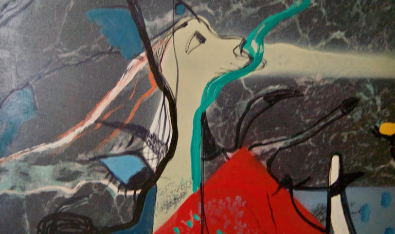 Eric the Red - Vikings - Mid 20th Century Mixed Media Abstract Piece - De Goya For Sale 1