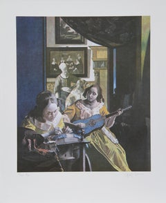 Primary Vermeer, Lithograph by George Deem
