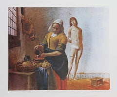Sebastian in the Kitchen, Lithograph by George Deem