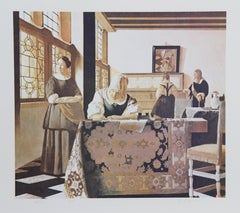 Sienna Vermeer, Lithograph by George Deem