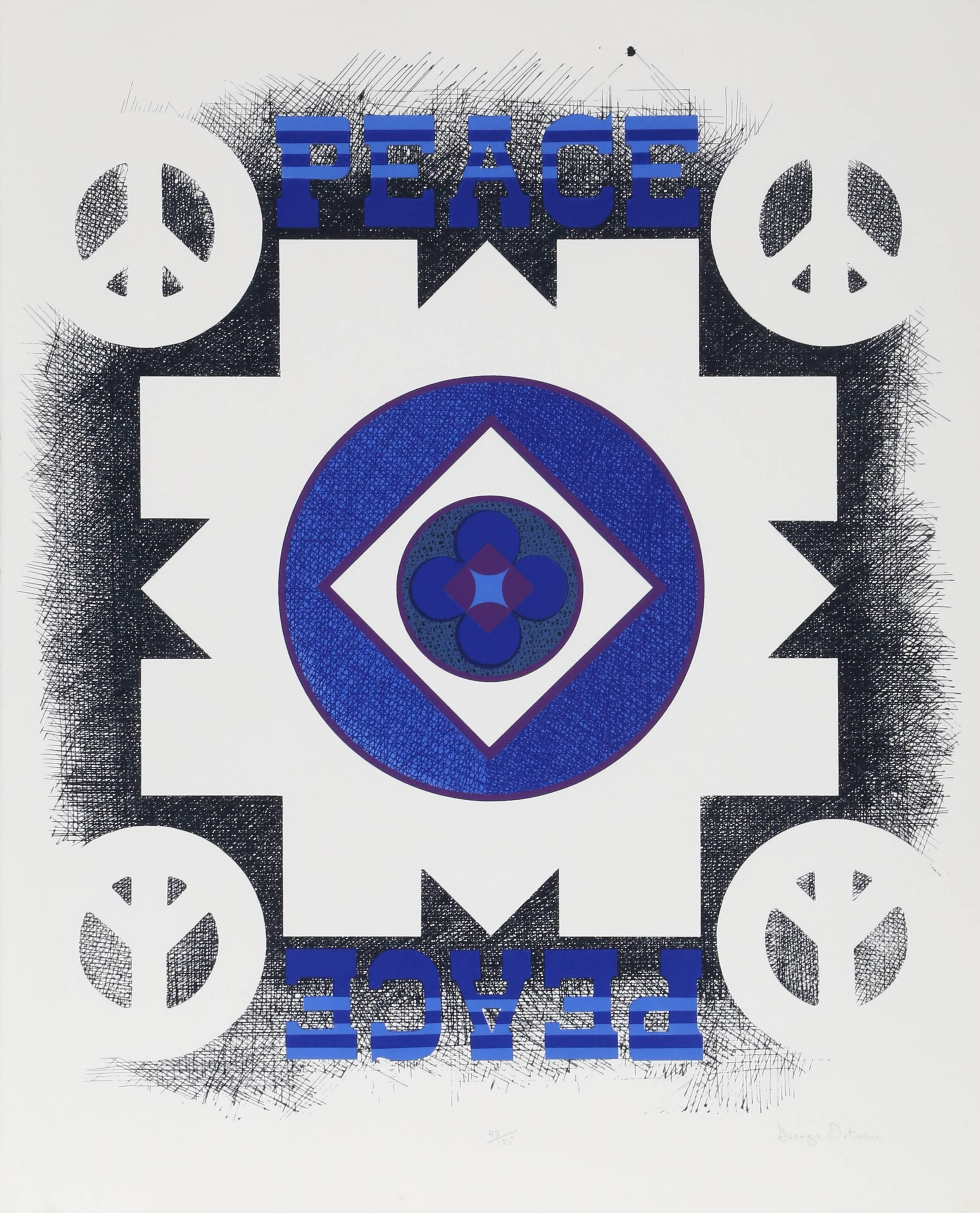 Peace, Silkscreen from the Peace Portfolio by George Ortman