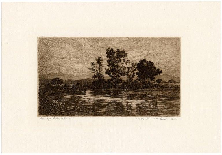 North Boulder Creek, Colorado —Southwest Impressionism - Print by George Elbert Burr