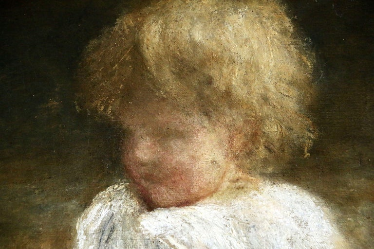 Portrait of a Young Girl - Painting by George Frederic Watts OM RA