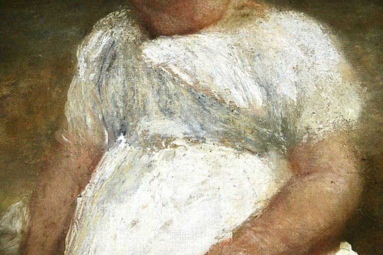 Portrait of a Young Girl - Impressionist Painting by George Frederic Watts OM RA