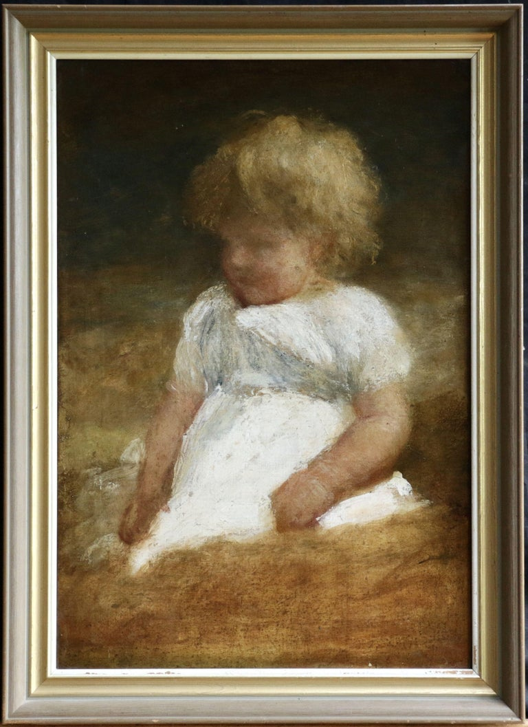Oil on canvas. Framed dimensions are 28 inches high by 21 inches wide.  George Frederick Watts enrolled at the Royal Academy Schools in 1835 but left soon afterwards to work in the atelier of the sculptor William Behnes, who communicated to Watts