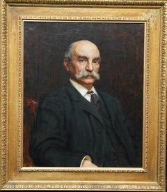 Portrait of John Beck - British Victorian art oil painting male portrait