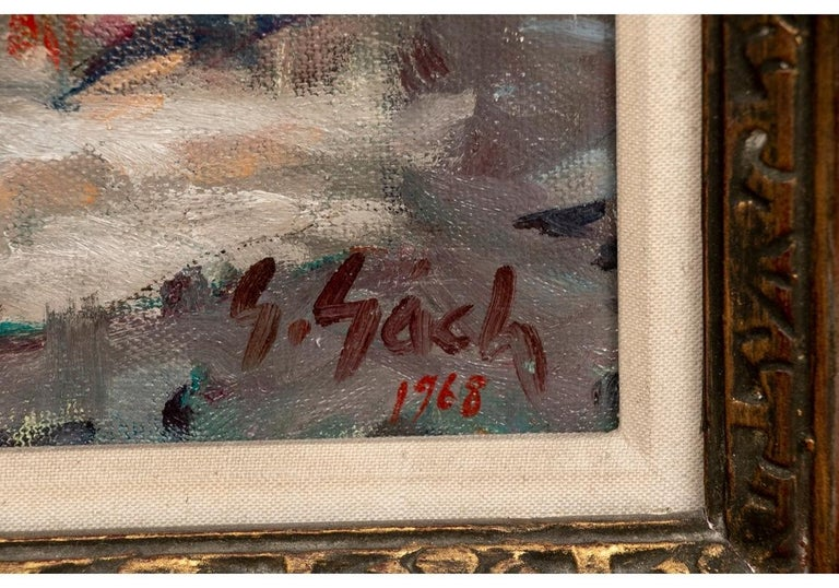 Mid-Century Modern George Gach 'Hungarian-American, NY, 1909-1996' Oil On Canvas,
