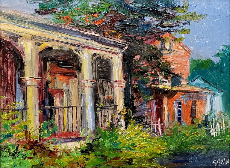 Pennsylvania Storefronts - Painting by George Gallo