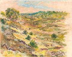Wellfleet, George Grosz, 1940 (Modernist Landscape Watercolour)