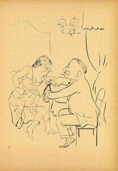 A Drink - by George Grosz - 1923
