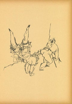 Acrobats from Ecce Homo - Original Offset and Lithograph by George Grosz - 1923