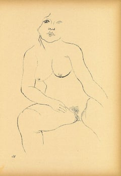 Aenne - Original Offset and Lithograph by George Grosz - 1923