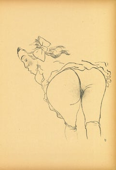 Alone - Original Lithograph and Offset by George Grosz - 1923
