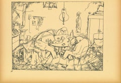Apachen - Original offset and Lithograph by George Grosz - 1923