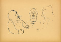 Better People - Original Offset and Lithograph by George Grosz - 1923