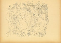 Bourgeois World - Original Lithograph and Offset by George Grosz - 1923