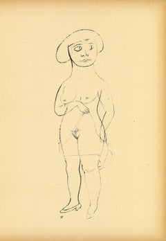 Commerzienrat's Daughter - Original Offset and Lithograph by George Grosz - 1923