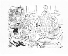 Conversation - Original Lithograph and Offset by George Grosz - 1925