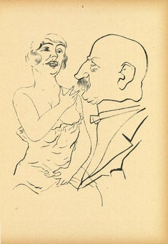 Couple - Offset and Lithograph by George Grosz - 1923