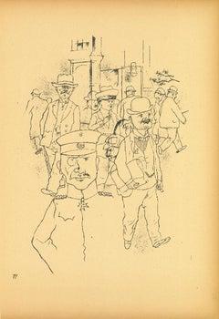 Crowd - by George Grosz - 1923