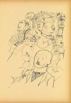 Dr. Huelsenbeck - Original Offset and Lithograph by George Grosz - 1923