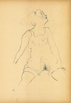 Ecstasy - Original Lithograph and Offset by George Grosz - 1923