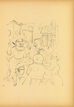 Engagement - Original Lithograph by George Grosz - 1923