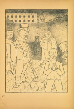 Execution - Original Offset and Lithograph by George Grosz - 1923