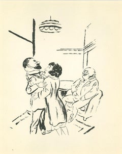 Forgiveness - Original Lithograph and Offset by George Grosz - 1925
