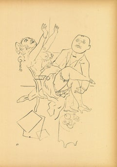 Happiness from Ecce Homo - Original Lithograph by George Grosz - 1923