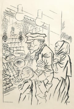 Hunger - Original Lithograph by George Grosz - 1924