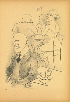 Indifference - by George Grosz - 1923
