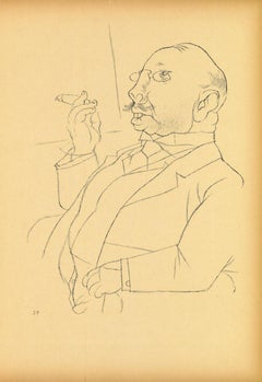 Landlord - Original Lithograph and Offset by George Grosz - 1923