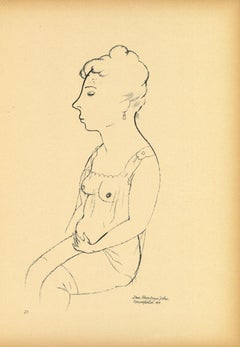 Louise - Original Lithograph and Offset by George Grosz - 1923