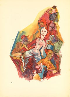 Lying-in - by George Grosz - 1923