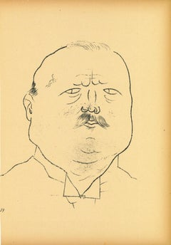 Man of Honor - Offset and Lithograph by George Grosz - 1923